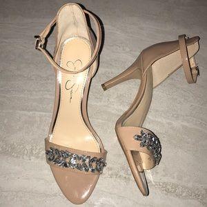 Jessica Simpson Maclin strap heel with jewel toes
